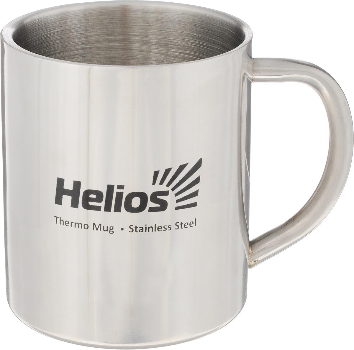 Термокружка Helios HS TK-009, 300 мл128986Термокружка Helios HS TK-009 предназначена специально для горячих и холодных напитков. Она изготовлена из высококачественной нержавеющей стали. Двойная стенка гарантирует долгое сохранение температуры и убережет от ожогов при заваривании чая или кофе. Такая кружка прекрасно сохраняет свою целостность и первозданный вид даже при многократном использовании. Диаметр кружки (по верхнему краю): 7,5 см. Высота кружки: 9 см.
