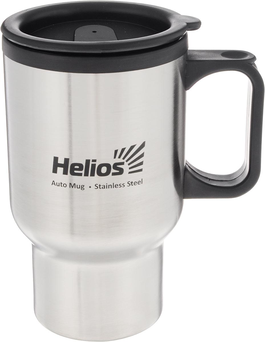 Термокружка Helios HS TK-001, с крышкой-поилкой, 450 мл128977Термокружка Helios HS TK-001 предназначена специально для горячих и холодных напитков. Она изготовлена из высококачественной нержавеющей стали и пластика. Двойная стенка гарантирует долгое сохранение температуры и убережет от ожогов при заваривании чая или кофе. Крышка-поилка из термостойкого пластика предохраняет от проливания и не дает напитку остыть. Такая кружка прекрасно сохраняет свою целостность и первозданный вид даже при многократном использовании. Диаметр кружки (по верхнему краю): 8,5 см. Высота кружки (без учета крышки): 15 см.
