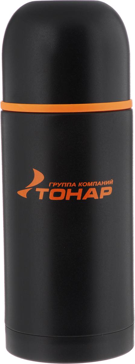 Термос Тонар HS TM-024, с чашей, 750 млa026124Термос Тонар HS TM-024 оснащен двойными стенками с вакуумной изоляцией, которая позволяет сохранять напитки горячими или холодными длительное время. Изготовлен из высококачественной нержавеющей стали, с защитным покрытием. Отлично сохраняет температуру, свежесть напитка и его оригинальный вкус. Дополнительная теплоизоляция внутри пробки. Пробка без кнопки надежно закрывает колбу и проста в использовании. Крышка может послужить вместительной чашкой, также в комплект входят дополнительная чаша и инструкция по эксплуатации. Термос сохраняет тепло до 12 часов и удерживает холод до 24 часов.Диаметр горлышка: 5 см.Диаметр основания: 8,8 см.Высота (с учетом крышки): 23,5 см.Размер крышки-чаши: 9 х 9 х 7 см. Размер чаши: 8 х 8 х 5 см.