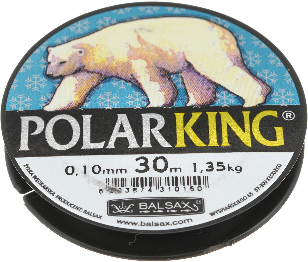 Леска зимняя Balsax Polar King, 30 м, 0,10 мм, 1,35 кг310-13010Леска Balsax Polar King изготовлена из 100% нейлона и очень хорошо выдерживает низкие температуры. Даже в самом холодном климате, при температуре вплоть до -40°C, она сохраняет свои свойства практически без изменений, в то время как традиционные лески становятся менее эластичными и теряют прочность. Поверхность лески обработана таким образом, что она не обмерзает и отлично подходит для подледного лова. Прочна в местах вязки узлов даже при минимальном диаметре.