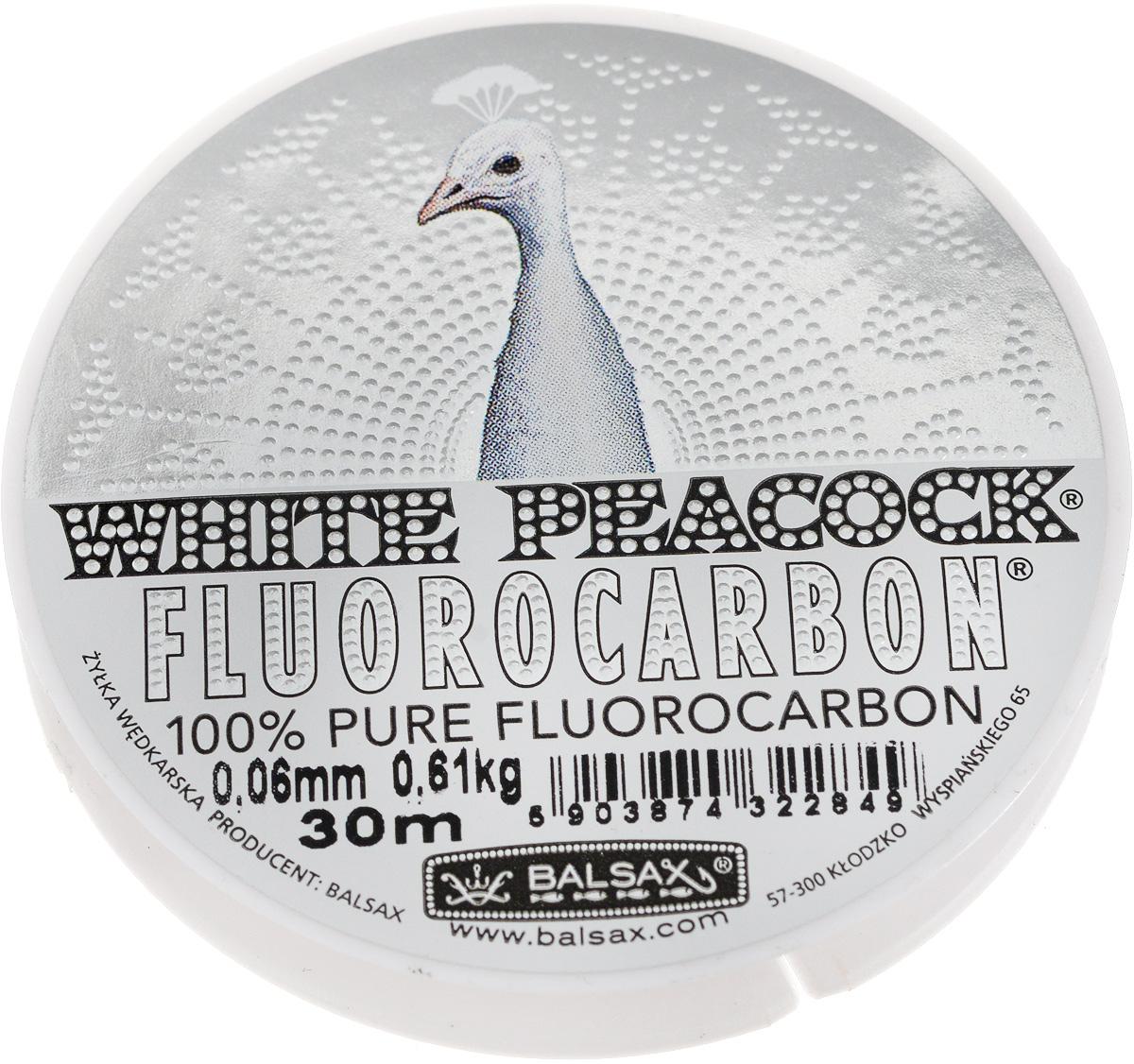 Леска флюорокарбоновая Balsax White Peacock, 30 м, 0,06 мм, 0,61 кг310-15006Флюорокарбоновая леска Balsax White Peacock становится абсолютно невидимой в воде. Обычные лески отражают световые лучи, поэтому рыбы их обнаруживают. Флюорокарбон имеет приближенный к воде коэффициент преломления, поэтому пропускает сквозь себя свет, не давая отражений. Рыбы не видят флюорокарбон. Многие рыболовы во всем мире используют подобные лески в качестве поводковых, благодаря чему получают более лучшие результаты. Флюорокарбон на 50% тяжелее обычных лесок и на 78% тяжелее воды. Понятно, почему этот материал используется для рыболовных лесок, он тонет очень быстро. Флюорокарбон не впитывает воду даже через 100 часов нахождения в ней. Обычные лески впитывают до 10% воды в течение 24 часов, что приводит к потере 5 - 10% прочности. Сопротивляемость флюорокарбона к истиранию значительно больше, чем у обычных лесок. Он выдерживает температуры от -40°C до +160°C.