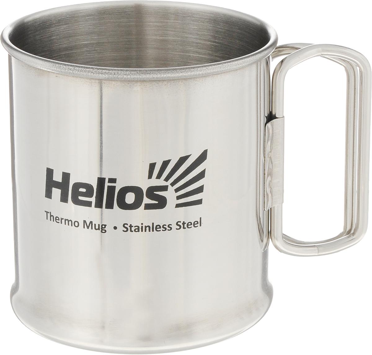 Термокружка HeliosHS TK-014,300 мл203-800 синийТермокружка Helios HS TK-014 предназначена специально для горячих и холодных напитков. Она изготовлена из высококачественной нержавеющей стали. Благодаря складным ручкам кружка занимает минимум места в рюкзаке. Такая кружка прекрасно сохраняет свою целостность и первозданный вид даже при многократном использовании. Диаметр кружки (по верхнему краю): 7 см. Высота кружки: 8 см.