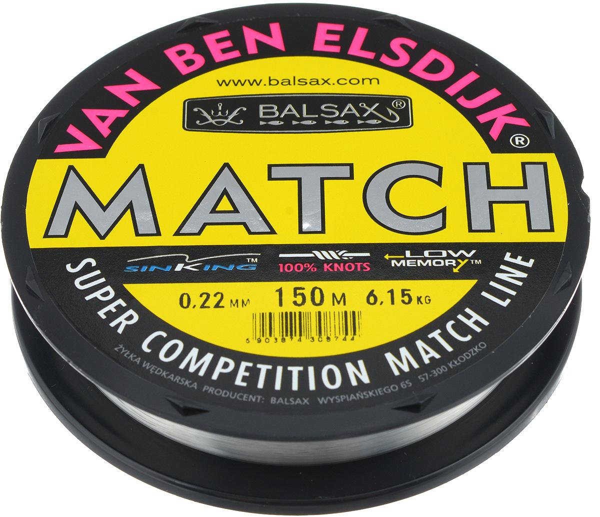 Леска Balsax Match VBE, 150 м, 0,22 мм, 6,15 кг304-10022Опытным спортсменам, участвующим в соревнованиях, нужна надежная леска, в которой можно быть уверенным в любой ситуации. Леска Balsax Match VBE отличается замечательной прочностью на узле и высокой сопротивляемостью к истиранию. Она была проверена на склонность к остаточным деформациям, чтобы убедиться в том, что она обладает наиболее подходящей растяжимостью, отвечая самым строгим требованиям рыболовов. Такая леска отлично подходит как для спортивного, так и для любительского рыболовства.