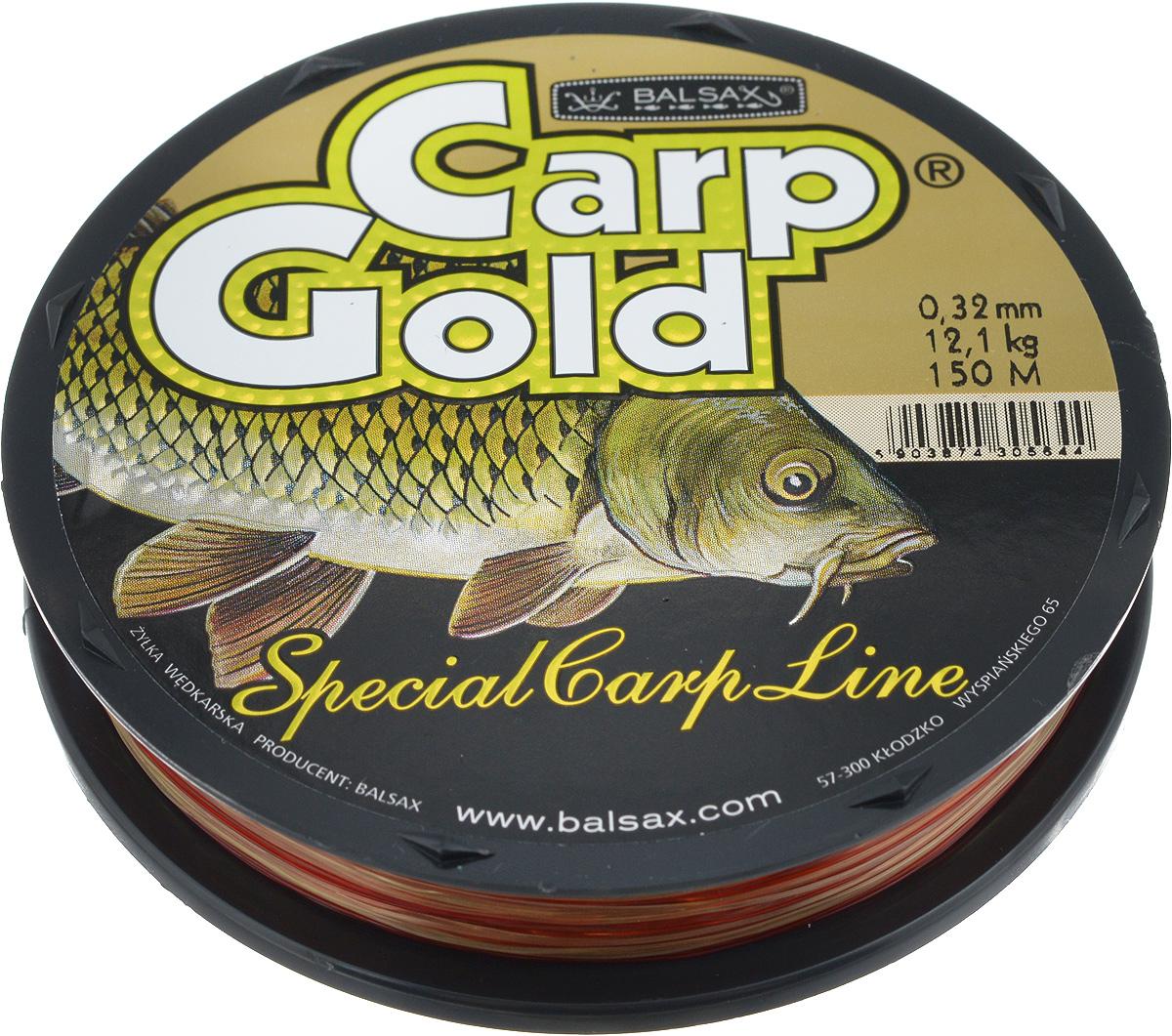 Леска Balsax Gold Carp, 150 м, 0,32 мм, 12,1 кг03/1/12Balsax Gold Carp - это чувствительная леска для крупной рыбы. Отличная сопротивляемость разрыву и контролируемая растяжимость. Превосходно выдерживает на узлах максимальное напряжение, связанное с ловлей крупной рыбы. Благодаря точно подобранным цветам - незаменима при ловли карпа. Такая леска не впитывает воду и маловосприимчива к солнечным лучам.