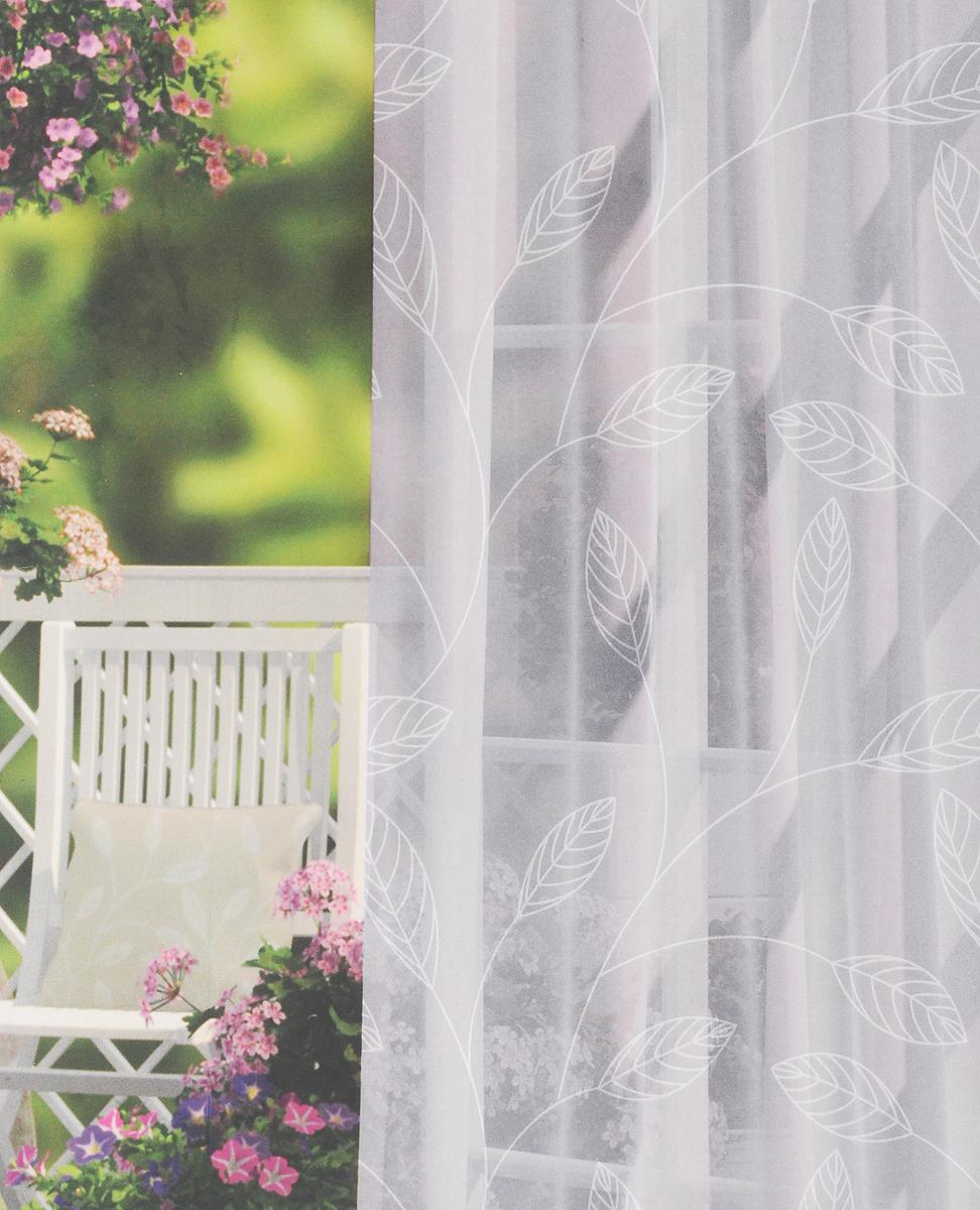 Комплект штор Волшебная ночь Green Leaves, на ленте, высота 270 см, 2 шт197869_серый, белыйКомплект штор Волшебная ночь Green Leaves - это готовое решение для вашего интерьера, гарантирующее красоту, удобство и индивидуальный стиль! Шторы изготовлены из тонкой и легкой ткани вуаль (100% полиэстер) в стиле прованс, которая почти не препятствует прохождению света, но защищает комнату от посторонних взглядов. Длина шторы регулируется с помощью клеевой паутинки (в комплекте). Изделие крепится на вшитую шторную ленту: на крючки или путем продевания на карниз. Высота шторы: 270 см. Ширина шторы: 150 см.
