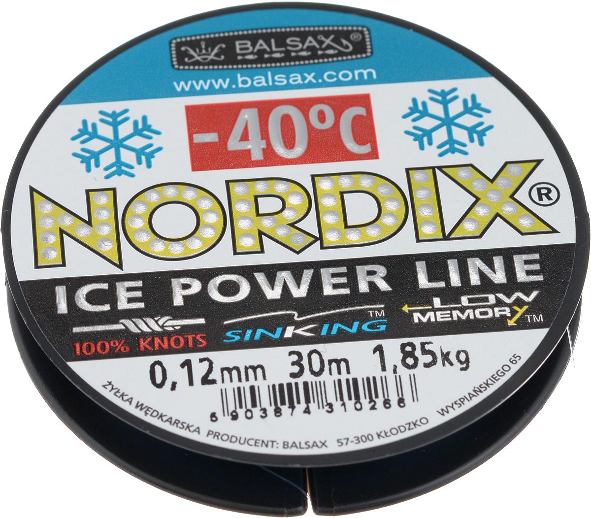 Леска зимняя Balsax Nordix, 30 м, 0,12 мм, 1,85 кг310-12012Леска Balsax Nordix изготовлена из 100% нейлона и очень хорошо выдерживает низкие температуры. Даже в самом холодном климате, при температуре вплоть до -40°C, она сохраняет свои свойства практически без изменений, в то время как традиционные лески становятся менее эластичными и теряют прочность. Поверхность лески обработана таким образом, что она не обмерзает и отлично подходит для подледного лова. Прочна в местах вязки узлов даже при минимальном диаметре.