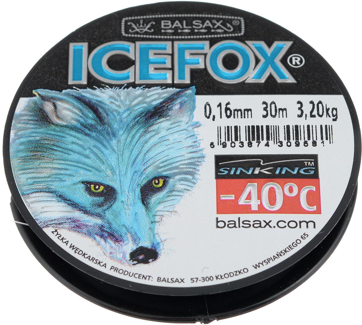 Леска зимняя Balsax Ice Fox, 30 м, 0,16 мм, 3,2 кг310-07016Леска Balsax Ice Fox изготовлена из 100% нейлона и очень хорошо выдерживает низкие температуры. Даже в самом холодном климате, при температуре вплоть до -40°C, она сохраняет свои свойства практически без изменений, в то время как традиционные лески становятся менее эластичными и теряют прочность. Поверхность лески обработана таким образом, что она не обмерзает и отлично подходит для подледного лова. Прочна в местах вязки узлов даже при минимальном диаметре.