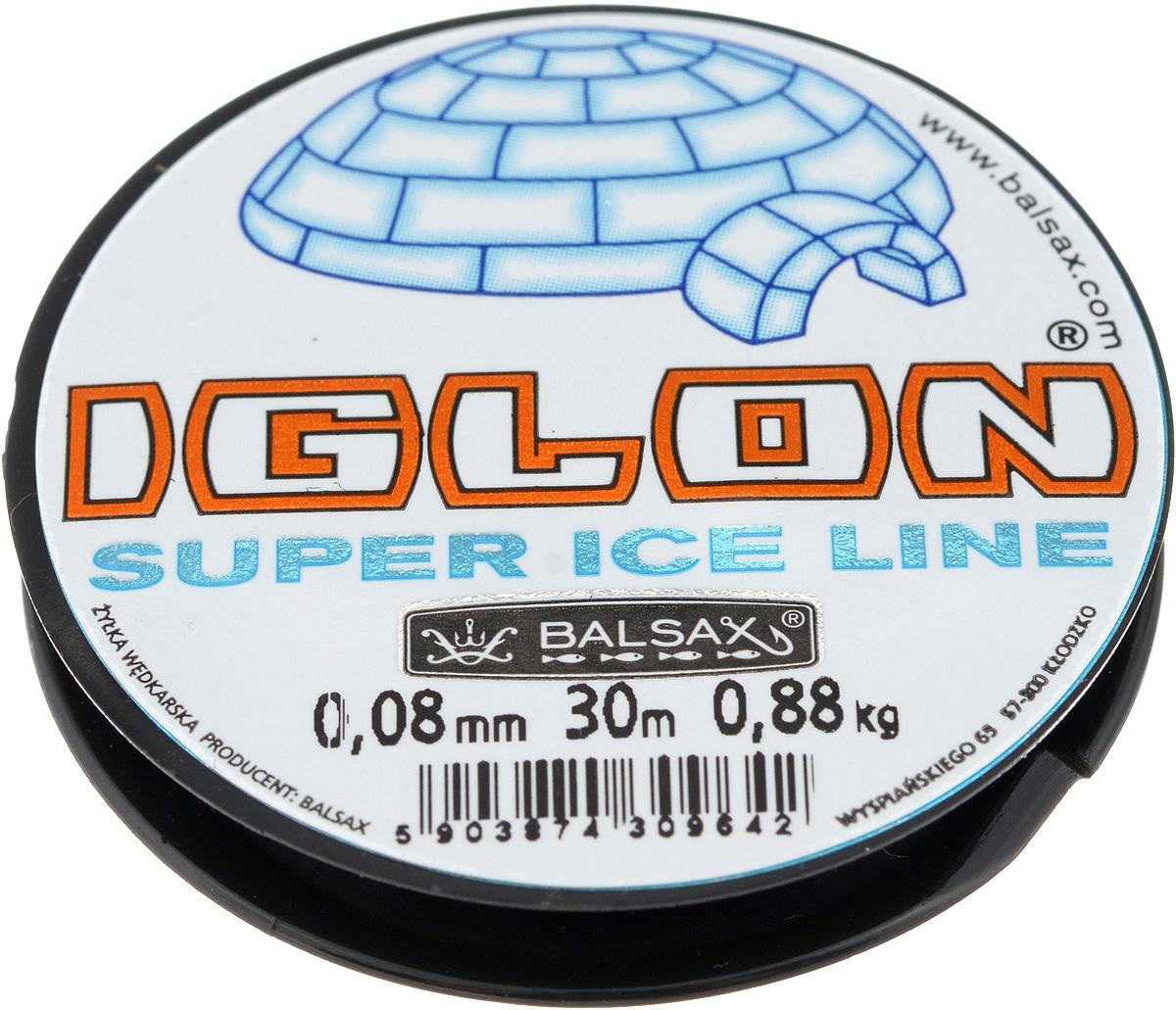Леска зимняя Balsax Iglon, 30 м, 0,08 мм, 0,88 кг10948Леска Balsax Iglon изготовлена из 100% нейлона и очень хорошо выдерживает низкие температуры. Даже в самом холодном климате, при температуре вплоть до -40°C, она сохраняет свои свойства практически без изменений, в то время как традиционные лески становятся менее эластичными и теряют прочность.Поверхность лески обработана таким образом, что она не обмерзает и отлично подходит для подледного лова. Прочна в местах вязки узлов даже при минимальном диаметре.