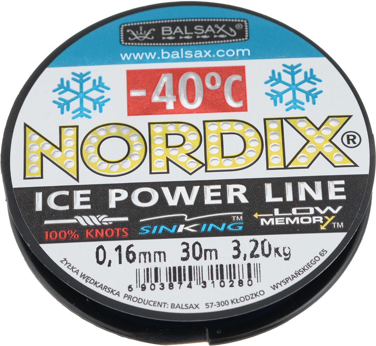 Леска зимняя Balsax Nordix, 30 м, 0,16 мм, 3,2 кг310-12016Леска Balsax Nordix изготовлена из 100% нейлона и очень хорошо выдерживает низкие температуры. Даже в самом холодном климате, при температуре вплоть до -40°C, она сохраняет свои свойства практически без изменений, в то время как традиционные лески становятся менее эластичными и теряют прочность. Поверхность лески обработана таким образом, что она не обмерзает и отлично подходит для подледного лова. Прочна в местах вязки узлов даже при минимальном диаметре.