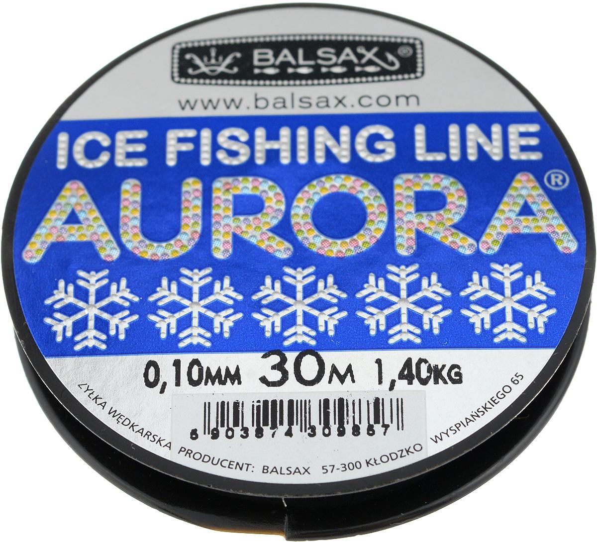 Леска зимняя Balsax Aurora, 30 м, 0,10 мм, 1,4 кг310-04010Леска Balsax Aurora изготовлена из 100% нейлона и очень хорошо выдерживает низкие температуры. Даже в самом холодном климате, при температуре вплоть до -40°C, она сохраняет свои свойства практически без изменений, в то время как традиционные лески становятся менее эластичными и теряют прочность. Поверхность лески обработана таким образом, что она не обмерзает и отлично подходит для подледного лова. Прочна в местах вязки узлов даже при минимальном диаметре.