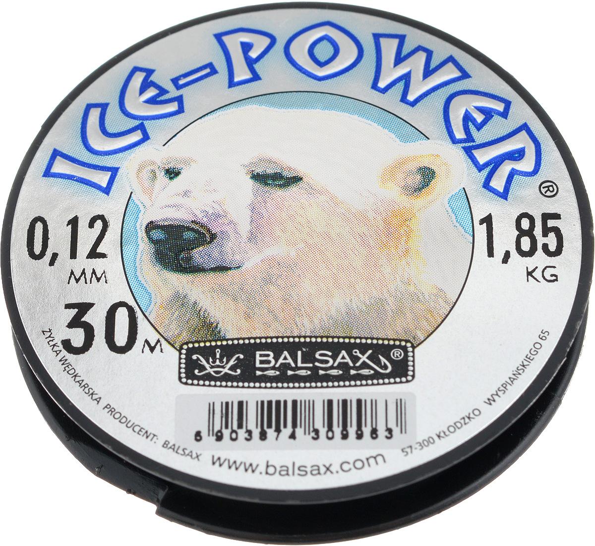 Леска зимняя Balsax Ice Power, 30 м, 0,12 мм, 1,85 кг06/4/07Леска Balsax Ice Power изготовлена из 100% нейлона и очень хорошо выдерживает низкие температуры. Даже в самом холодном климате, при температуре вплоть до -40°C, она сохраняет свои свойства практически без изменений, в то время как традиционные лески становятся менее эластичными и теряют прочность.Поверхность лески обработана таким образом, что она не обмерзает и отлично подходит для подледного лова. Прочна в местах вязки узлов даже при минимальном диаметре.