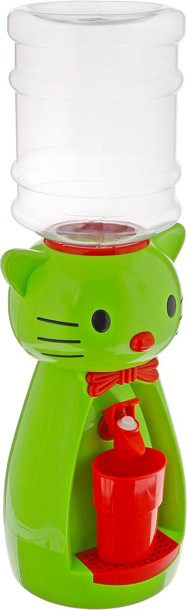 Мини-кулер для воды и сока HITT Мультик. Китти, цвет: зеленый, красный, 2 лVT-1520(SR)Детский мини-кулер HITT Мультик. Китти выполнен из экологически чистого пластика. Изделие не греет и не охлаждает воду, поэтому вы можете не беспокоиться, что ребенок обожжется или простудит горло. Соки, компоты, отвары трав в этом кулере будут для малыша более привлекательны, чем лимонад и другие вредные для организма напитки.Кроха с удовольствием будет наливать напиток из кулера в небольшой стаканчик совсем как взрослый. Ребенок станет потреблять больше жидкости. Вам не придется уговаривать его выпить молоко или компот.Изделие легкое и компактное, поэтому его можно взять с собой на дачу или на пикник. Яркий дизайн, сочные цвета и веселый персонаж сделают такой кулер украшением стола на детском празднике.Стакан входит в комплект.Высота мини-кулера (с учетом бутылки): 49 см. Размер стаканчика: 6,5 х 5 х 8,5 см. Высота бутылки: 18 см.