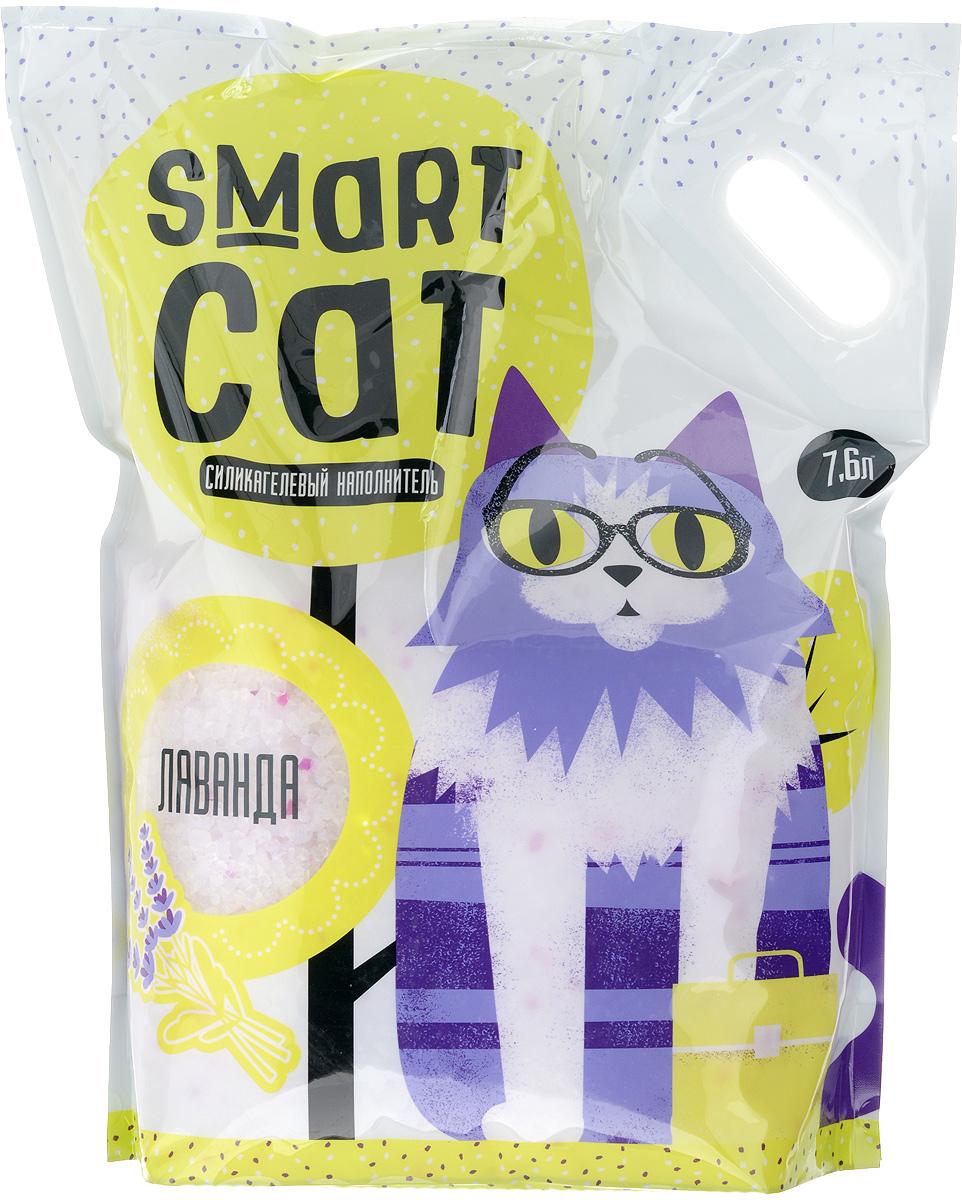 Наполнитель для кошачьих туалетов Smart Cat, силикагелевый, с ароматом лаванды, 7,6 л24576Силикагелевый наполнитель Smart Cat представляет собой мелкие белоснежные гранулы с ароматом лаванды, изготовленные из сухого геля поликремниевой кислоты. Такой состав обладает прекрасной способностью впитывать жидкость, а также мгновенно поглощать и удерживать туалетные запахи. Наполнитель Smart Cat не вызывает у питомцев аллергических реакций, не поднимает пыль при использовании и не прилипает к нежным кошачьим лапкам и длинной шерсти, а значит, не разносится по окружающей туалет территории. Использованный наполнитель из силикагеля удаляется из кошачьего лотка специальным совочком и утилизируется в мусорное ведро (его нельзя выбрасывать в унитаз). Наполнитель Smart Cat заботится о чистоте вашего дома и комфорте питомца! Товар сертифицирован.