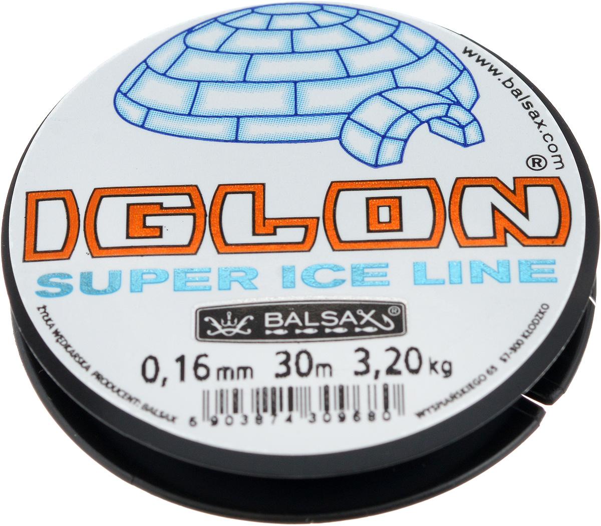 Леска зимняя Balsax Iglon, 30 м, 0,16 мм, 3,2 кг312-06016Леска Balsax Iglon изготовлена из 100% нейлона и очень хорошо выдерживает низкие температуры. Даже в самом холодном климате, при температуре вплоть до -40°C, она сохраняет свои свойства практически без изменений, в то время как традиционные лески становятся менее эластичными и теряют прочность. Поверхность лески обработана таким образом, что она не обмерзает и отлично подходит для подледного лова. Прочна в местах вязки узлов даже при минимальном диаметре.
