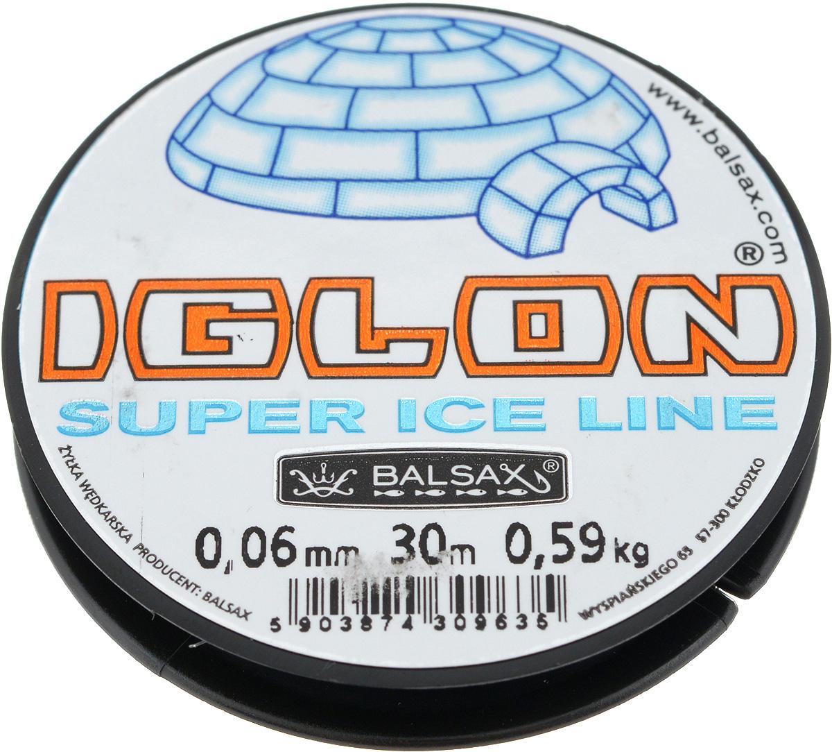 Леска зимняя Balsax Iglon, 30 м, 0,06 мм, 0,59 кг03/1/12Леска Balsax Iglon изготовлена из 100% нейлона и очень хорошо выдерживает низкие температуры. Даже в самом холодном климате, при температуре вплоть до -40°C, она сохраняет свои свойства практически без изменений, в то время как традиционные лески становятся менее эластичными и теряют прочность.Поверхность лески обработана таким образом, что она не обмерзает и отлично подходит для подледного лова. Прочна в местах вязки узлов даже при минимальном диаметре.