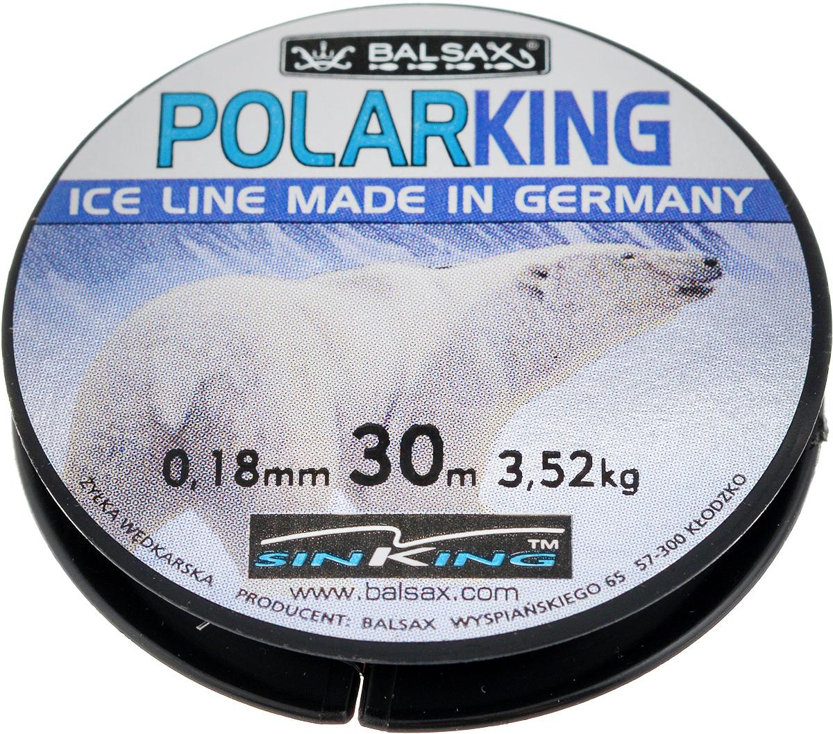 Леска зимняя Balsax Polar King, 30 м, 0,18 мм, 3,52 кг310-13018Леска Balsax Polar King изготовлена из 100% нейлона и очень хорошо выдерживает низкие температуры. Даже в самом холодном климате, при температуре вплоть до -40°C, она сохраняет свои свойства практически без изменений, в то время как традиционные лески становятся менее эластичными и теряют прочность. Поверхность лески обработана таким образом, что она не обмерзает и отлично подходит для подледного лова. Прочна в местах вязки узлов даже при минимальном диаметре.
