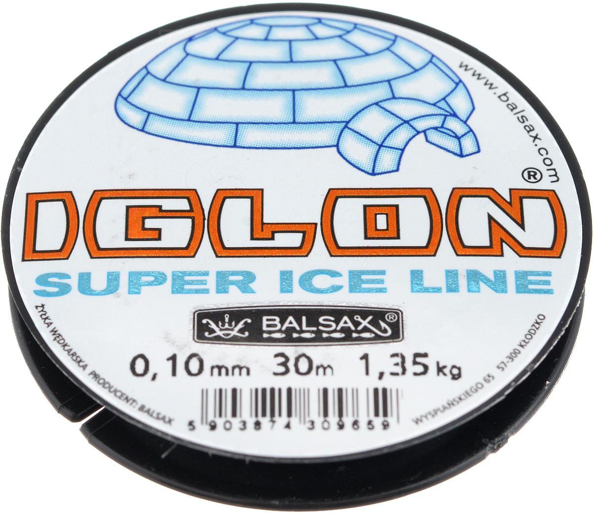 Леска зимняя Balsax Iglon, 30 м, 0,10 мм, 1,35 кг03/1/12Леска Balsax Iglon изготовлена из 100% нейлона и очень хорошо выдерживает низкие температуры. Даже в самом холодном климате, при температуре вплоть до -40°C, она сохраняет свои свойства практически без изменений, в то время как традиционные лески становятся менее эластичными и теряют прочность.Поверхность лески обработана таким образом, что она не обмерзает и отлично подходит для подледного лова. Прочна в местах вязки узлов даже при минимальном диаметре.