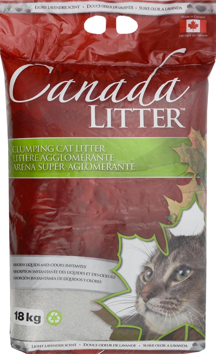 Наполнитель для кошачьих туалетов Canada Litter Запах на Замке, комкующийся, с ароматом лаванды, 18 кг20144Комкующийся наполнитель Canada Litter - канадский наполнитель супер-премиум класса. Наполнитель Canada Litter Запах на замке изготовлен из натриевого бентонита и производится в Канаде. Наполнитель впитывает 350% влаги (в 3,5 раза больше собственного веса). Специальные гранулы напоминают кошке ее естественную среду. Обладает высокой впитывающей и комкующей способностью. Результат заметен мгновенно – при увлажнении сразу образуется плотный комочек. Мягкий приятный аромат лаванды, едва заметный для кошки, устраняет и контролирует запах. Инструкция по применению: 1. Наполните чистый лоток кошачьего туалета Комкующимся наполнителем Canada Litter слоем в 10-12 см. 2. Ежедневно удаляйте совком образовавшиеся комочки. 3. Добавляйте необходимое количество наполнителя, чтобы восполнить содержимое туалета. 4. НИ В КОЕМ СЛУЧАЕ НЕ ВЫБРАСЫВАЙТЕ В УНИТАЗ!