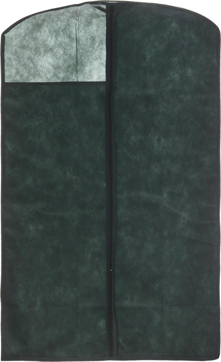 Чехол для одежды LarangE, с окошком, 100 х 60 см625-421Чехол для одежды LarangE изготовлен из спанбонда и оснащен застежкой-молнией. Особое строение полотна создает естественную вентиляцию: материал дышит и позволяет воздуху свободно проникать внутрь чехла, не пропуская пыль. Прозрачное окошко позволяет видеть содержимое чехла. Чехол для одежды будет очень полезен при транспортировке вещей на близкие и дальние расстояния, при длительном хранении сезонной одежды, а также при ежедневном хранении вещей из деликатных тканей. Чехол для одежды LarangE защитит ваши вещи от повреждений, пыли, моли, влаги и загрязнений.