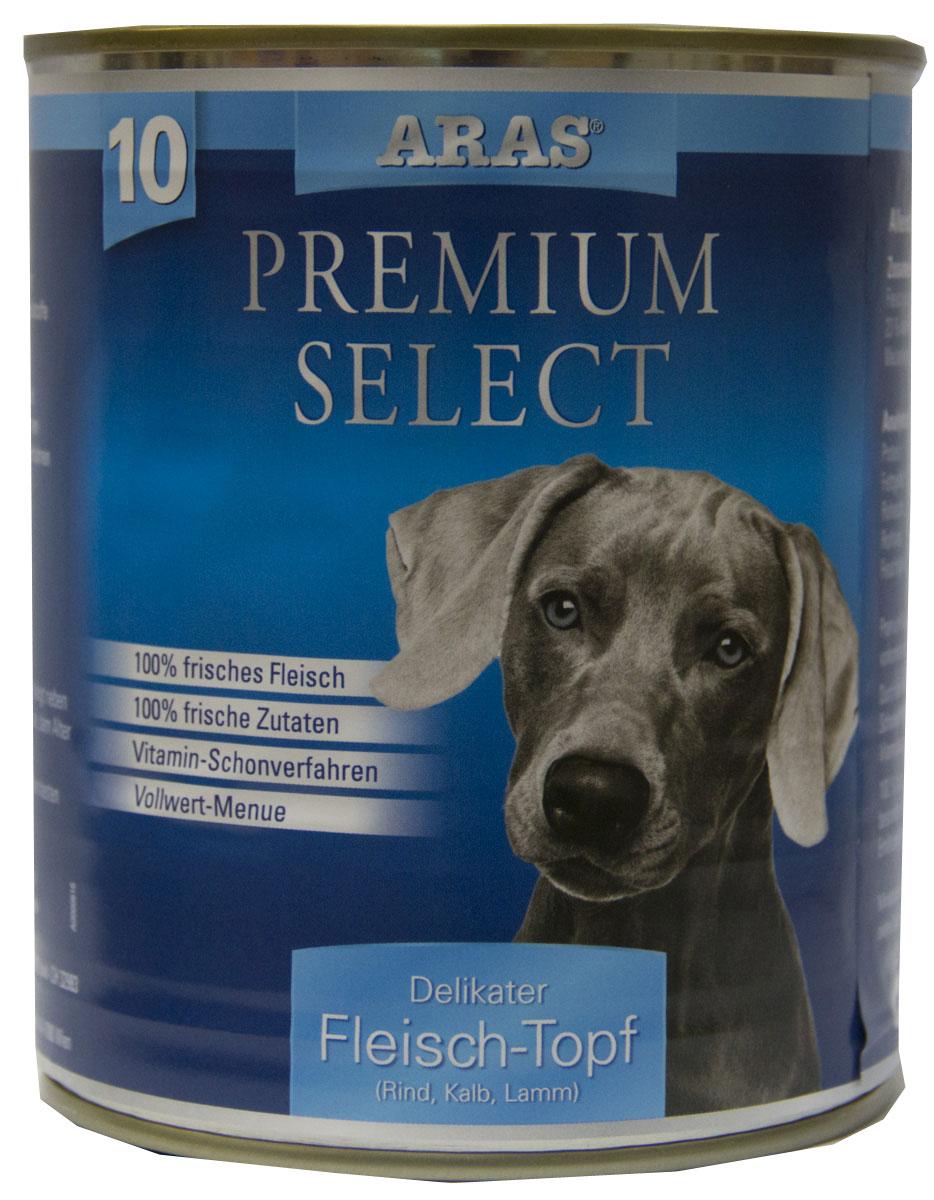 Консервы для собак Aras Premium Select, с говядиной, телятиной и бараниной, 820 г101810Консервы для собак Aras Premium Select - повседневный консервированный корм для собак всех пород и всех возрастов. Бережная обработка отборных ингредиентов высочайшего качества, используемых при изготовлении корма, обеспечивает вашего питомца здоровым и сбалансированным питанием. Благодаря содержанию высококачественного белка, полученного из свежего мяса, вашему питомцу требуется меньшее количества корма, чем кормов других марок. Особенности корма: - 80% содержание мяса - Изготовлен из 100% свежего мяса, пригодного в пищу человеку - Без химических красителей и усилителей вкуса - Без консервантов - Без химических добавок - Из 100% свежих ингредиентов - С экстрактом масла зародышей пшеницы холодного отжима - Сохранение натуральных витаминов в процессе изготовления - Гарантия свежести Состав: свежее мясо и субпродукты 99% (говядина 58%, телятина 23%, баранина 19%), экстракт зародышей пшеницы холодного отжима 1%. ...
