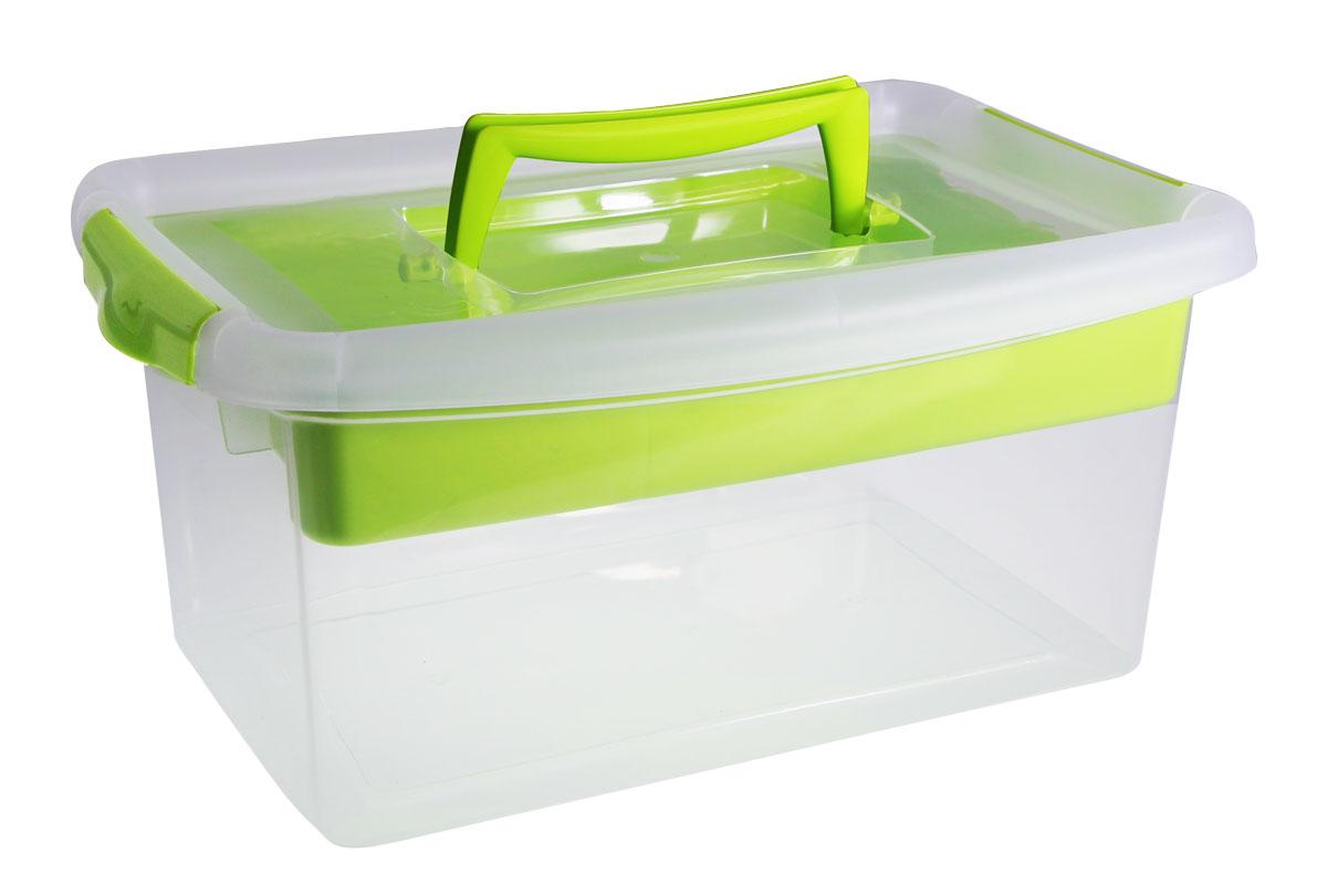 Контейнер для хранения Idea с вкладышем, цвет: салатовый, 29 x 19 x 29, 4 лМ 2873_салатовыйКонтейнер для хранения Idea с вкладышем, цвет: салатовый, 4 л
