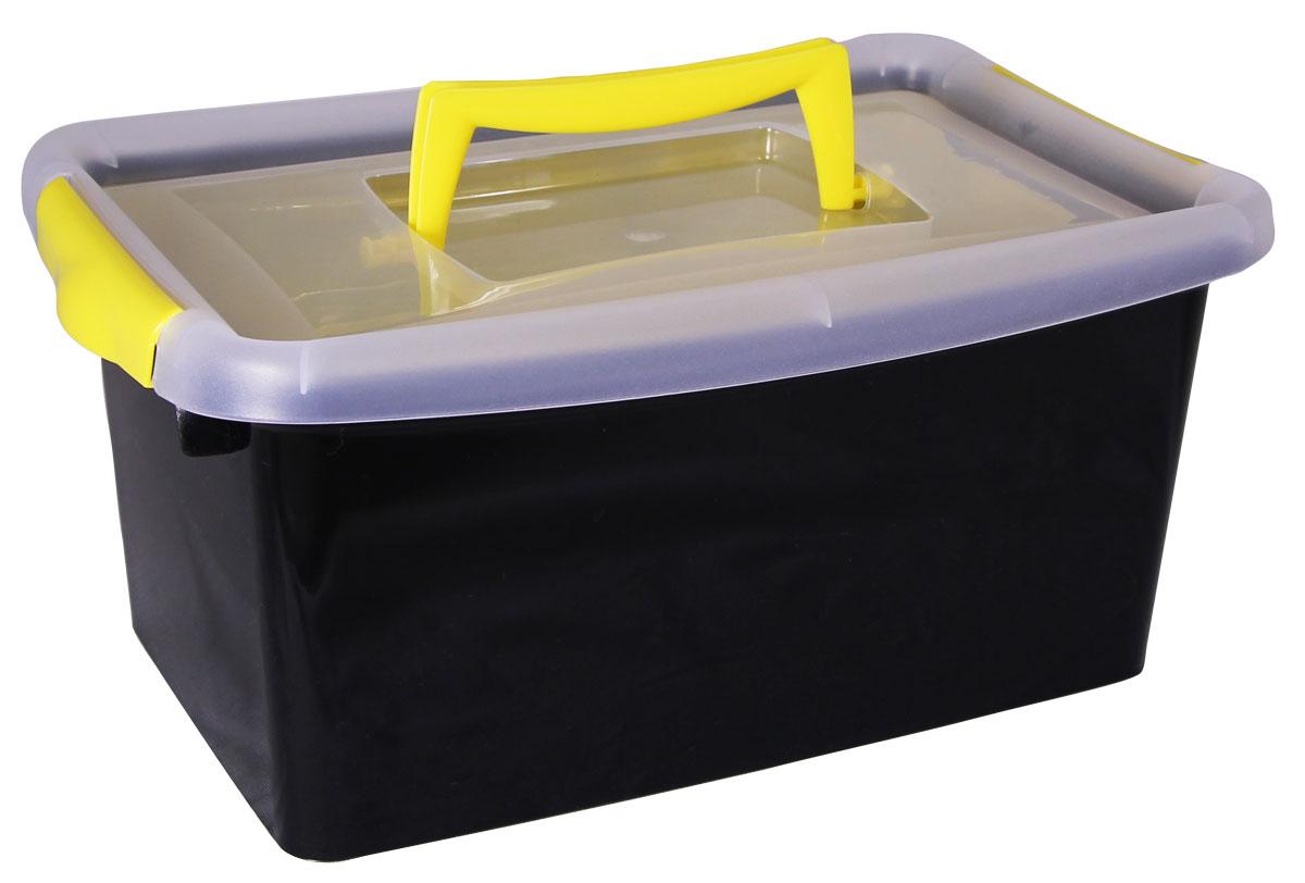 Контейнер для хранения Idea, с вкладышем, цвет: черный, 29 x 13 x 18 смUP210DFКонтейнер для хранения Idea выполнен из высококачественного пластика. Контейнер снабжен двумя пластиковыми фиксаторами по бокам, придающими дополнительную надежность закрывания крышки, и вкладышем. Вместительный контейнер позволит сохранить различные нужные вещи в порядке, а герметичная крышка предотвратит случайное открывание, защитит содержимое от пыли и грязи. Объём контейнера: 4 л. Размер вкладыша: 24 х 15 см.
