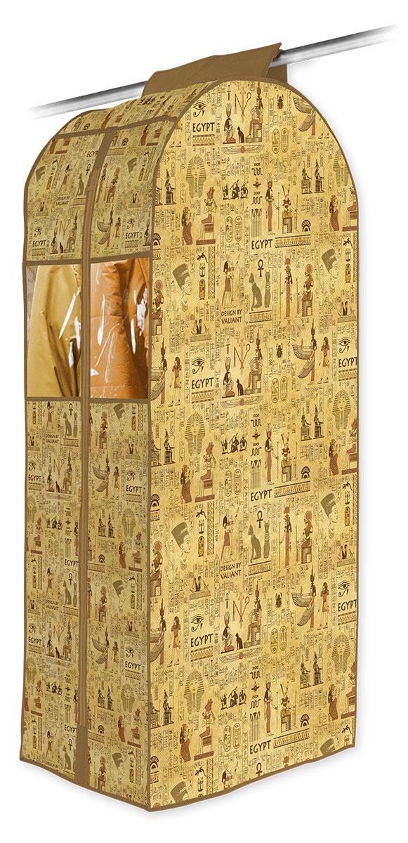 Кофр подвесной для одежды Valiant Egypt, 108 х 60 х 30 смEG-C-108Привнести в интерьер гардероба частичку загадочного Египта теперь возможно с новой системой хранения Egypt Collection. Многофункциональность системы хранения Egypt Collection обеспечивает надежное и бережное хранение вещей. В коллекции удобные чехлы для одежды, короба стеллажные, кофры и органайзеры для хранения вещей. Все модели Egypt Collection удобны в использовании и обеспечивают бережное хранение вещей. Система хранения Egypt Collection от VALIANT представлена в фирменной упаковке, выполненной в едином стиле. СТИЛЬНАЯ ИНФОРМАТИВНАЯ УПАКОВКА С ИНТЕРЬЕРНОЙ ВИЗУАЛИЗАЦИЕЙ СИСТЕМЫ ХРАНЕНИЯ Egypt COLLECTION ЭФФЕКТНО ВЫДЕЛЯЕТСЯ СРЕДИ АНАЛОГОВ FACE BACK Оригинальная прозрачная упаковка с крючком позволяет: — организовать коллекционную выкладку товара в магазине — продемонстрировать все достоинства товара покупателю. Покупатель может собрать собственную систему хранения в едином стиле.