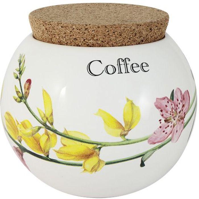 Банка для кофе Ceramiche Viva Фреско, 650 млCV2-T08-98048-ALБанка для кофе Ceramiche Viva Фреско изготовлена из высококачественной керамики. Нанесение сверкающей глазури, не содержащей свинца, придает посуде превосходный блеск и особую прочность. Изделие снабжено пробковой крышкой, которая позволит сохранить вкус и аромат кофе, предотвратит попадание влаги и грязи. Внешние стенки изделия украшены цветочным рисунком и надписью Coffee. Такая банка красиво дополнит интерьер кухни и станет практичным приобретением. Изделие можно мыть в посудомоечной машине и использовать в микроволновой печи. Не разрешается применять при мытье посуды абразивные порошки.