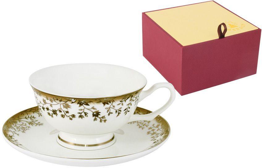 Чайная пара Emerald Золотой луг, 2 предметаE5-16-909/CSM-ALЧайная пара Emerald Золотой луг состоит из чашки и блюдца, изготовленных из высококачественного костяного фарфора. Яркий дизайн изделий, несомненно, придется вам по вкусу. Чайная пара Emerald Золотой луг украсит ваш кухонный стол, а также станет замечательным подарком к любому празднику. Объем чашки: 200 мл.