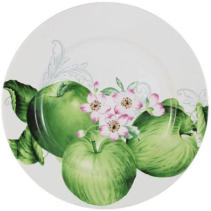 Тарелка обеденная Imari Зеленые яблоки, диаметр 27 смVT-1520(SR)Обеденная тарелка Imari Зеленые яблоки выполнена из высококачественной керамики, основным ингредиентом которой является твердый доломит. Изделие легкое, белоснежное, прочное и устойчивое к высоким температурам. Нанесение сверкающей глазури, не содержащей свинца, придает изделию превосходный блеск и особую прочность. Высокое качество достигается не только благодаря использованию особого сырья, новейших технологий и оборудования, но также благодаря строгому контролю на всех этапах производственного процесса. Изделие декорировано красочным изображением зеленых яблок. Обеденная тарелка предназначена для сервировки вторых блюд. Она оригинально дополнит сервировку стола и станет практичным приобретением для кухни. Высокое качество исходного сырья и глазури позволяет мыть изделие в посудомоечной машине.