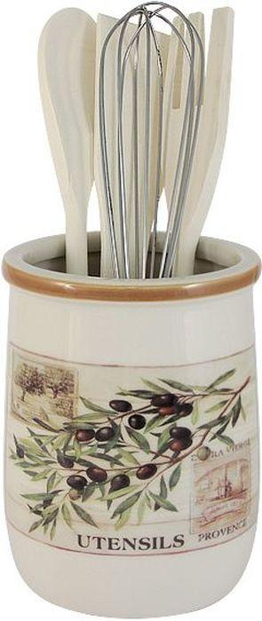 Набор кухонных принадлежностей LF Ceramic Оливки, с подставкой, 5 предметовLF-210F9478-ALНабор LF Ceramic Оливки состоит из ложки кулинарной, вилки, венчика, лопатки и подставки. Подставка выполнена из высококачественной керамики и декорирована ярким рисунком. Дизайн, эстетичность и функциональность подставки позволят ей стать достойным дополнением к кухонному инвентарю. Вилка, лопатка и ложка изготовлены из натурального дерева, а венчик - из металла. Данный набор придаст вашей кухне элегантность, подчеркнет индивидуальный дизайн и превратит приготовление еды в настоящее удовольствие.