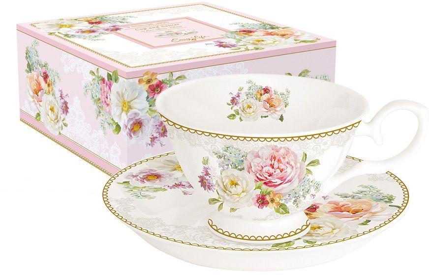Чайная пара Nuova R2S Цветочная романтика, 2 предметаR2S356/ROLC-ALЧайная пара Nuova R2S Цветочная романтика состоит из чашки и блюдца, изготовленных из высококачественного фарфора. Яркий дизайн изделий, несомненно, придется вам по вкусу. Чайная пара Nuova R2S Цветочная романтика украсит ваш кухонный стол, а также станет замечательным подарком к любому празднику. Объем чашки: 200 мл.