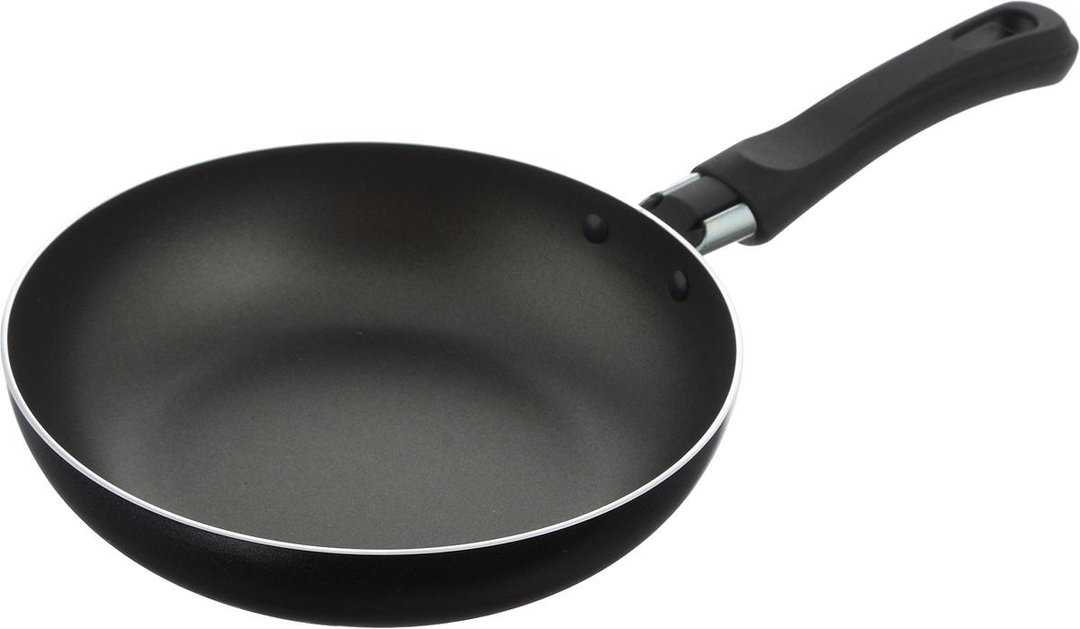 Сковорода Flonal Black & Silver, с тефлоновым покрытием, диаметр 18 смBS2181Сковорода тефлоновая Flonal Black & Silver изготовлена из 100% пищевого алюминия. Благодаря тефлоновому покрытию, пища не пригорает к сковороде. Легко моется. Можно готовить с минимальным количеством жира. Быстрый нагрев сохраняет пищевую ценность продукта. Энергия используется рационально. Сковорода оснащена удобной пластиковой ручкой. Подходит для использования на газовых, электрических и стеклокерамических плитах. Можно мыть в посудомоечной машине. Диаметр сковороды (по верхнему краю): 18 см. Высота стенки: 4 см. Длина ручки: 13,5 см.