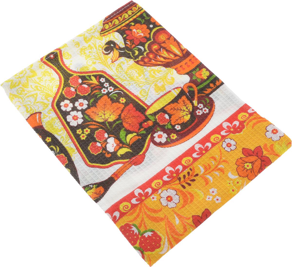 Полотенце кухонное ROKO, 60 х 30 см115354_самоварКухонное полотенце ROKO, выполненное из 100% хлопка, оформлено оригинальным принтом. Изделие предназначено для использования на кухне и в столовой. Оно отлично впитывает влагу, быстро сохнет, сохраняет яркость цвета и не теряет форму даже после многократных стирок. Такое полотенце станет отличным вариантом для практичной и современной хозяйки.