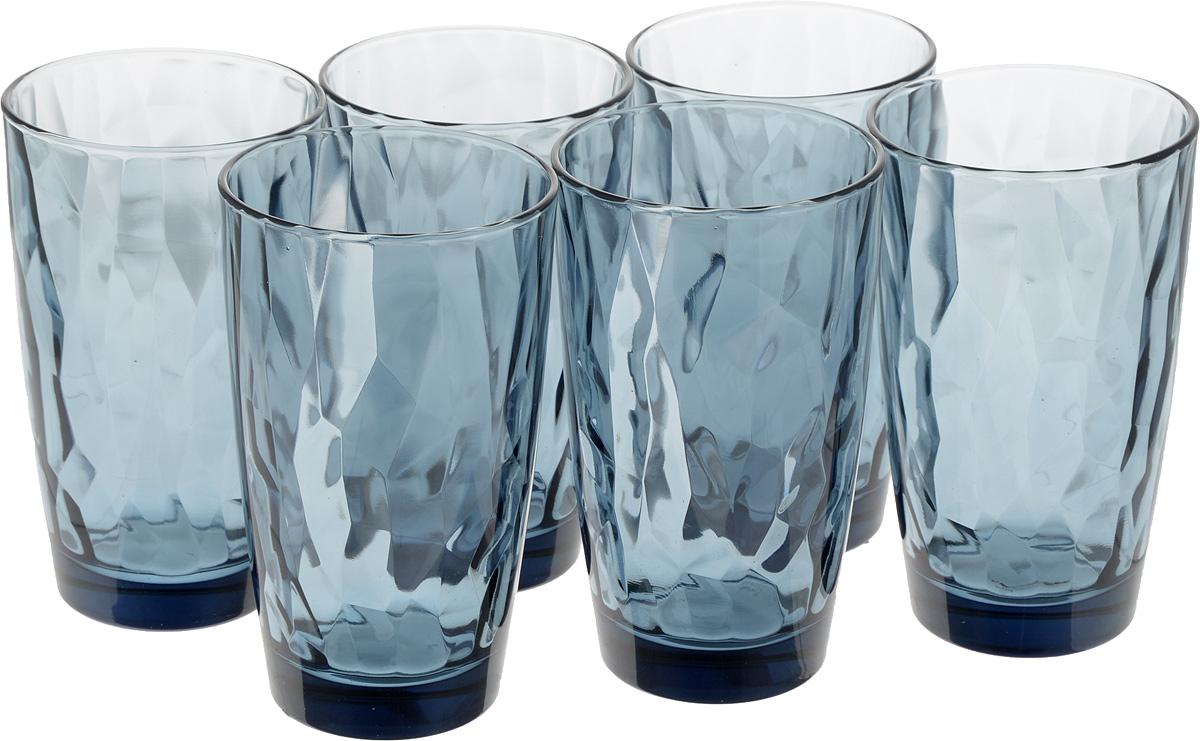 Набор стаканов Bormioli Rocco Даймонд, цвет: синий, 470 мл, 6 шт350260M02321990Набор Bormioli Rocco Даймонд выполнен из стекла, состоит из 6 высоких стаканов. Стаканы предназначены для холодных напитков. С внутренней стороны поверхность стаканов рельефная, что создает эффект игры и преломления. Благодаря такому набору пить напитки будет еще вкуснее. Стаканы Bormioli Rocco Даймонд станут идеальным украшением праздничного стола и отличным подарком к любому празднику. Объем стакана: 470 мл. Диаметр стакана по верхнему краю: 8,5 см. Высота стакана: 14,5 см.