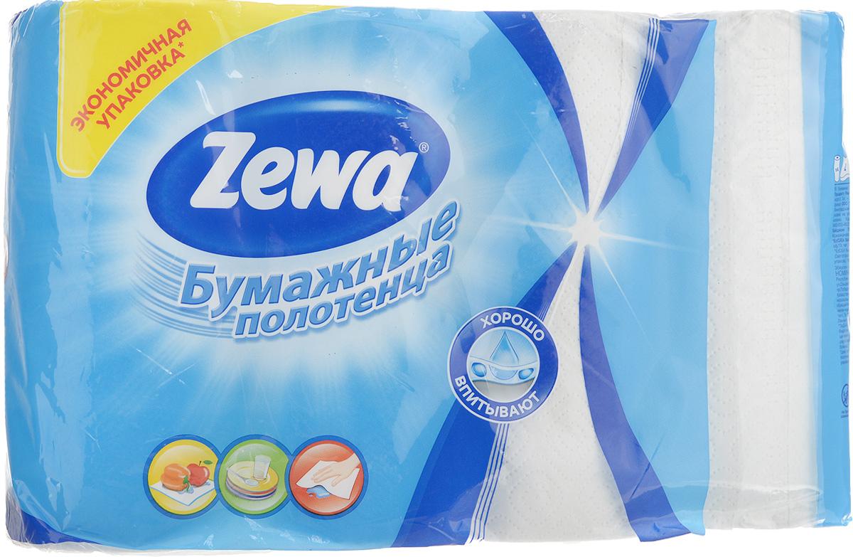 Полотенца бумажные Zewa, двухслойные, 4 рулона02.03.05.144099Полотенца бумажные Zewa – это незаменимый атрибут чистой кухни. Они просты в использовании, их не надо стирать и просто утилизировать. Безупречно белые, они подчеркивают чистоту вашего дома и вашу искреннюю заботу о близких. Специальное тиснение улучшает способность материала впитывать влагу, что позволяет нашим полотенцам еще лучше справляться со своей работой. Натуральные материалы, используемые при изготовлении продукции Zewa, безопасны для людей, животных и окружающей среды, не вызывают раздражения и аллергии и не оставляют мелкой бумажной пыли. Классические бумажные полотенца Zewa могут использоваться не только на кухне, но и для других целей, поскольку отлично вытирают руки и убирают грязь с самых разных поверхностей. Стол, пол, подоконник – все будет чистым и свежим, а полотенце просто отправится в ведро. Количество рулонов: 4 шт. Количество листов в рулоне: 56. Количество слоев: 2. Размер листа: 22,7 х 25 см. Длина рулона: 14 м.