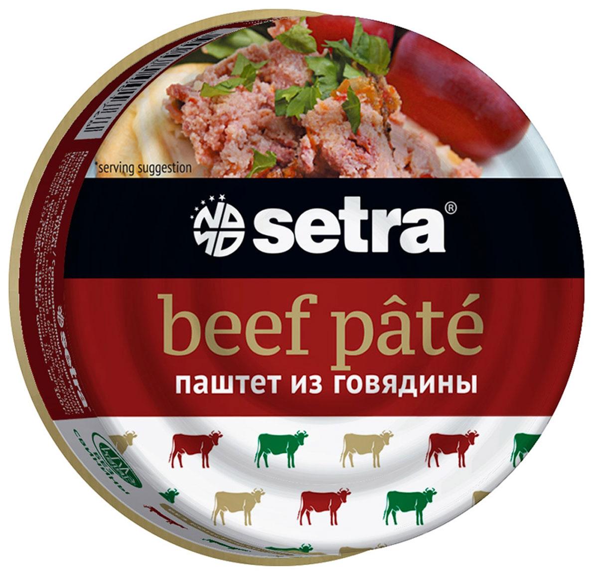 Setra паштет из говядины, 100 г гое001