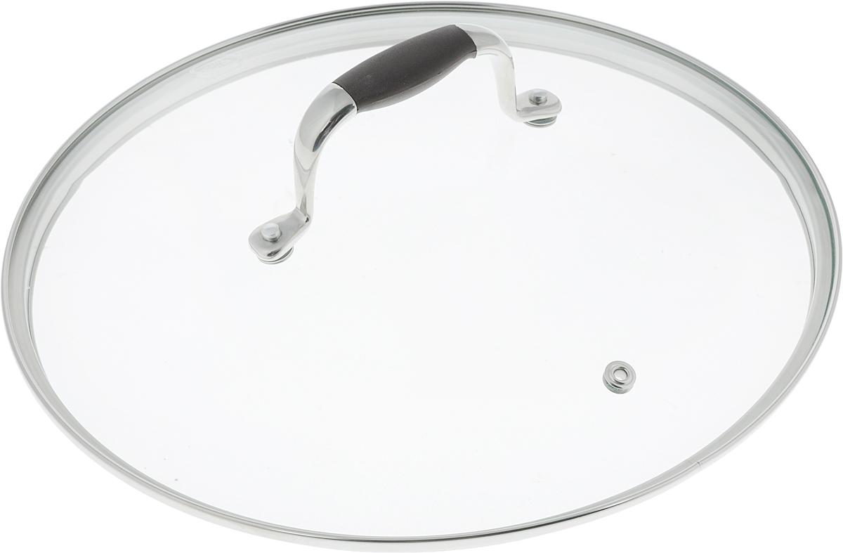 Крышка Rondell Mocco. Диаметр 26 смRDА-534Крышка Rondell Mocco, изготовленная из закаленного стекла, позволяет контролировать процесс приготовления без потери тепла. Ободок из нержавеющей стали предотвращает сколы на стекле. Крышка оснащена отверстием для выпуска пара. Нескользящая ручка выполнена из нержавеющей стали с вставкой из силикона. Крышку можно мыть в посудомоечной машине. Не подходит для использования в духовке. Диаметр крышки: 26 см. Посуда Rondell совсем недавно появилась на российском рынке, но уже прекрасно себя зарекомендовала. Эту посуду по достоинству оценили тысячи любителей кулинарии, а рекомендации профессионалов - шеф-поваров многих ресторанов и ведущих популярных кулинарных программ служат дополнительным весомым аргументом в ее пользу. Профессиональные технологии, изысканный дизайн и широкий ассортимент делают посуду Rondell исключительно привлекательной для всех, кто любит и умеет готовить.