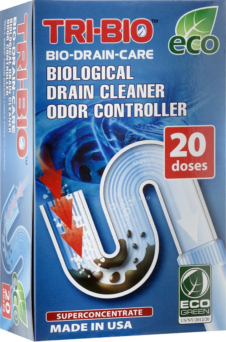 Биосредство Tri-Bio, для прочистки бытовых канализаций, суперконцентрат, 100 г0015Биосредство Tri-Bio спасет вашу канализационную систему от засоров и неприятных запахов. Идеально подходит для всех видов труб. Очищает трубы и стоки от органических отходов. Ликвидирует наросты на трубах. Уничтожает вредные бактерии. Удаляет неприятные запахи, устраняя причину запаха. Tri- Bio абсолютно безопасен для труб. Предохраняет систему от закупоривания. В отличие от стандартных химических продуктов, полностью очищает стенки трубы, образует защитную биопленку, предотвращающую образование отложений и налета на стенках труб. Особенности биосредства Tri-Bio для здоровья: без фосфатов, без растворителей, без хлора отбеливающих веществ, без абразивных веществ, без красителей, без токсичных веществ, нейтральный pH. Безопасная альтернатива химическим аналогам. Присвоен сертификат ECO GREEN. Особенности биосредства Tri-Bio для окружающей среды: низкий уровень ЛОС, легко биоразлагаемо, минимальное влияние на водные организмы, рециклируемые...
