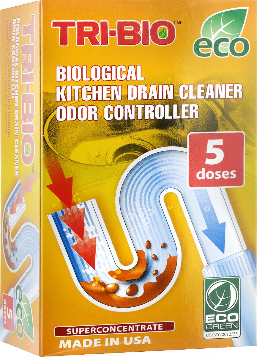 Биосредство Tri-Bio, для прочистки стоков бытовых и коммерческих кухонь, суперконцентрат, 100 г0040Биосредство Tri-Bio идеально подходит для всех видов труб. Расщепляет и перерабатывает жиры. Очищает трубы и стоки от органических отходов. Ликвидирует наросты на трубах. Уничтожает вредные бактерии. Удаляет неприятные запахи, устраняя причину запаха. Абсолютно безопасен для труб. Предохраняет систему от закупоривания. В отличие от стандартных химических продуктов, полностью очищает стенки трубы, образует защитную биопленку, предотвращающую образование отложений и налета на стенках труб. Всего 10 граммов раз в две недели избавят вас от засоров и неприятных запахов на кухне. Особенности биосредства Tri-Bio для здоровья: без фосфатов, без растворителей, без хлора отбеливающих веществ, без абразивных веществ, без красителей, без токсичных веществ, нейтральный pH. Мощная и безопасная альтернатива химическим аналогам. Присвоен сертификат ECO GREEN. Особенности биосредства Tri-Bio для окружающей среды: низкий уровень ЛОС, легко биоразлагаемо,...
