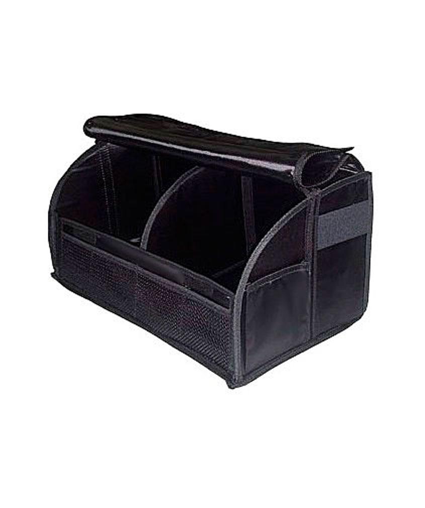Сумка-органайзер в багажник Антей. 001-И001-ИВместительный складной органайзер Антей закрывается крышкой. Разделен перегородкой на два равных отделения. Легко собирается и хорошо держит форму благодаря текстильным креплениям (липучки). Дно органайзера не скользит по багажнику.