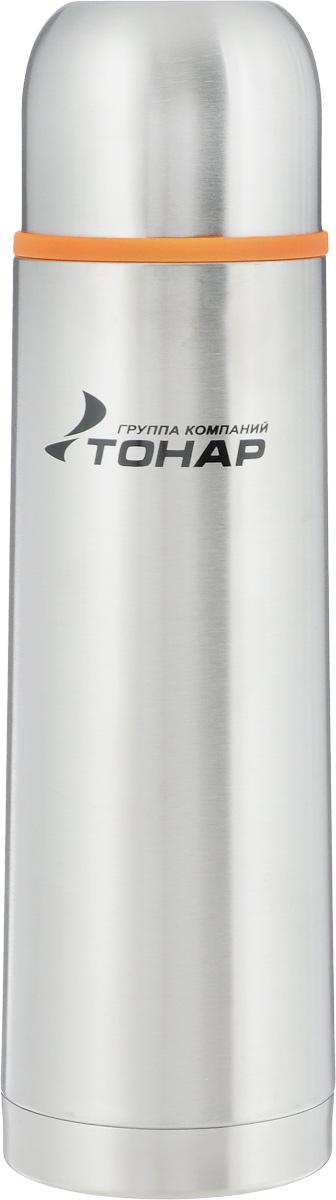 Термос Тонар HS TM-014, 500 мл149738Термос Тонар HS TM-014 выполнен из нержавеющей стали и оснащен двойными стенками с вакуумной изоляцией, которая позволяет сохранять напитки горячими или холодными длительное время. Корпус покрыт защитным прозрачным лаком. Термос отлично сохраняет температуру, свежесть напитка и его оригинальный вкус. Дополнительная теплоизоляция внутри пробки. Пробка без кнопки надежно закрывает колбу и проста в использовании. Крышка может послужить вместительной чашкой, также в комплект входит инструкция по эксплуатации. Термос сохраняет тепло до 12 часов и удерживает холод до 24 часов. Диаметр горлышка: 4,5 см. Диаметр основания: 6,8 см. Высота (с учетом крышки): 24,5 см. Размер крышки-чашки: 6,5 х 6,5 х 5,5 см. .