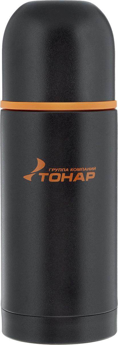 Термос Тонар HS TM-023, с чашей, 500 мл891980.25Термос Тонар HS TM-023 оснащен двойными стенками с вакуумной изоляцией, которая позволяет сохранять напитки горячими или холодными длительное время. Изготовлен из высококачественной нержавеющей стали, с защитным покрытием. Отлично сохраняет температуру, свежесть напитка и его оригинальный вкус. Дополнительная теплоизоляция внутри пробки. Пробка без кнопки надежно закрывает колбу и проста в использовании. Крышка может послужить вместительной чашкой, также в комплект входят дополнительная чаша и инструкция. Термос сохраняет тепло до 12 часов и удерживает холод до 24 часов.Диаметр горлышка: 5 см.Диаметр основания: 7,6 см.Высота (с учетом крышки): 22 см.Размер крышки-чаши: 7,8 х 7,8 х 7 см. Размер чаши: 6,7 х 6,7 х 4,5 см.