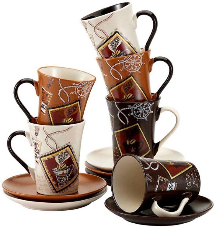 Чайный набор Wellberg, 12 предметов, керамика. 42014 WB42014 WB