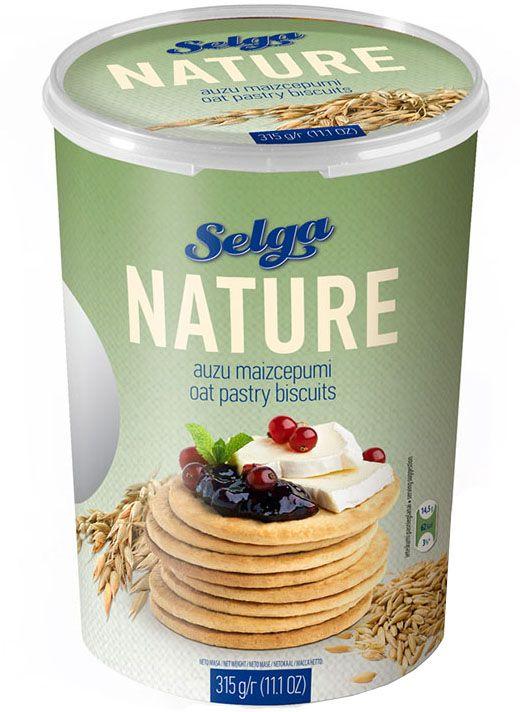 Selga Nature Овсяное хлебное печенье, 315 гP310210001Хлебное печенье из овсяной муки.