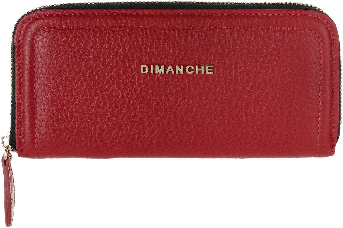 Портмоне женское Dimanche Премиум, цвет: красный. 675/33/GICE 8508Современное портмоне оригинального дизайна Dimanche Премиум изготовлено из натуральной кожи. Внутри четыре отделения для купюр, два скрытых кармана один из которых на застежке-молнии, шесть карманов для карт и один большой карман для монет, который застегивается на молнию. Застегивается изделие при помощи застежки-молнии.