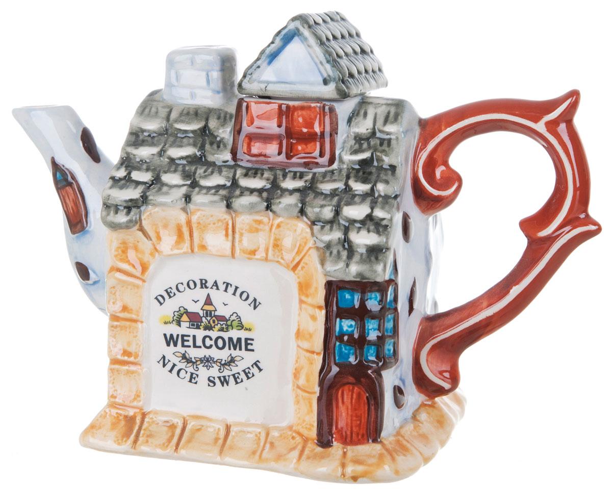 Чайник заварочный ENS Group Дом, милый дом, 650 млVT-1520(SR)Этот великолепный чайник, выполненный из керамики, станет настоящим украшением любого стола. Послужит отличным подарком.Можно мыть в посудомоечной машине.