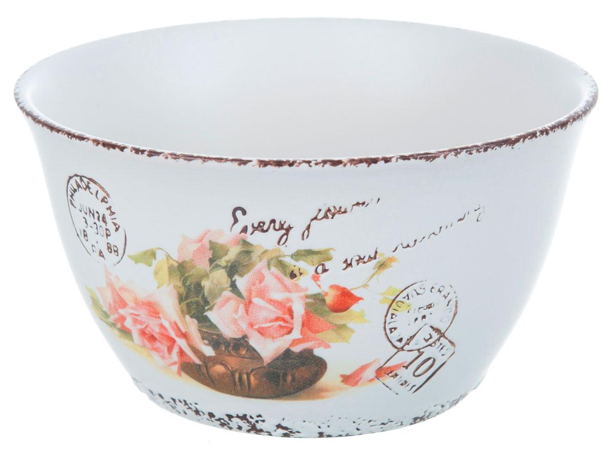 Салатник ENS Group Чайная роза, 400 мл, диаметр 12 см1750164Салатник Чайная роза изготовлен из керамики. Салатник прекрасно подходит для сервировки салатов, фруктов, ягод и других продуктов. Яркий дизайн стильно украсит стол. Идеальный вариант для ежедневного использования. Можно мыть в посудомоечной машине.