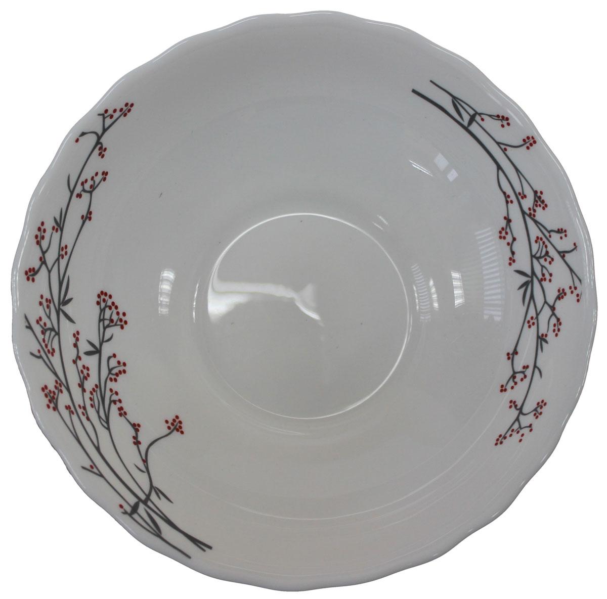 Салатник Марисса, 15,5 см. 818941818941Салатник Марисса 15,5 см, материал опаловое стекло. Салатник – можно использовать как суповую тарелку, объем 412 мл, можно использовать в посудомоечной машине и СВЧ.