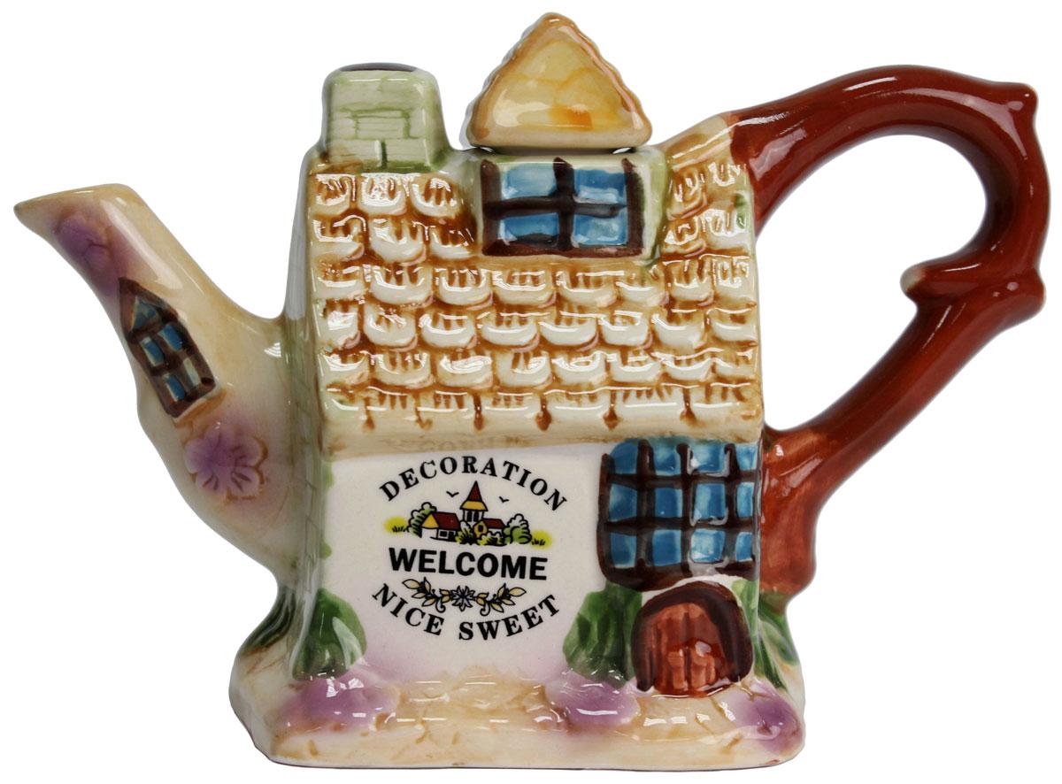 Чайник заварочный Домики, 300 мл. 824682824682Этот великолепный чайник станет настоящим украшением любого стола. Послужит отличный подарком! Объем чайника 300 мл